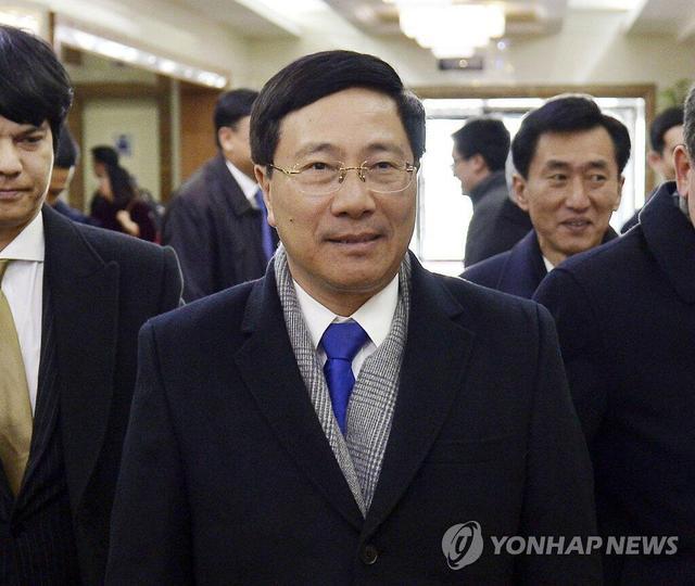 """越南政府副总理兼外长范平明访问朝鲜 可能谈及""""特金会"""""""