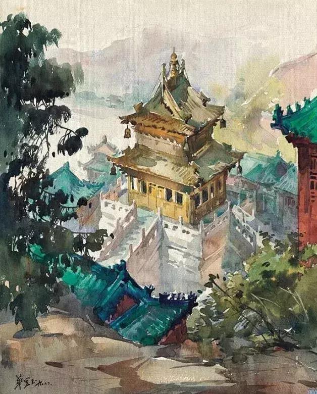 清华才女笔下的中国水彩