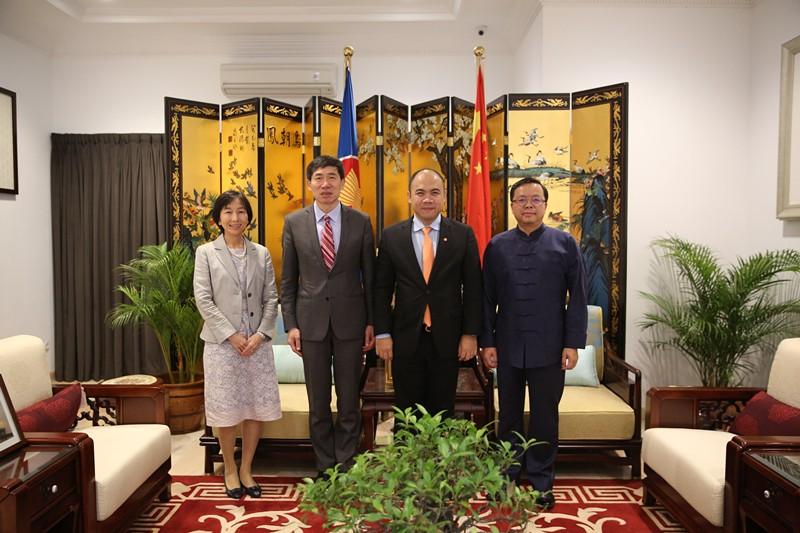 中国驻东盟使团举办东盟可持续发展项目四方合作高级别会议