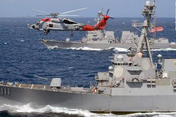 美军舰再闯南沙海域 中国外交部:强烈不满和坚决反对