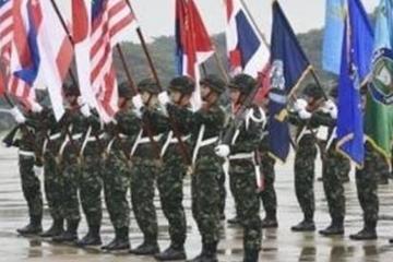 由美国和泰国联合举办的金色眼镜蛇联合军事演习开幕