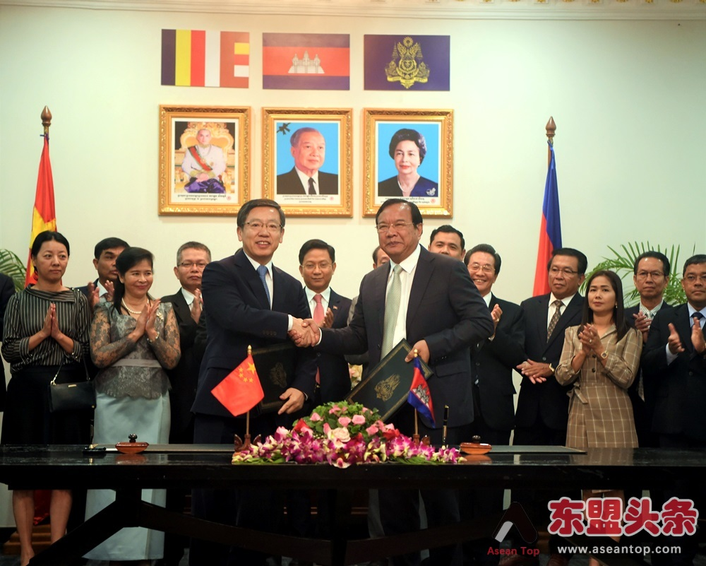 中国与柬埔寨签署19个澜湄合作专项基金项目 金额766万美元