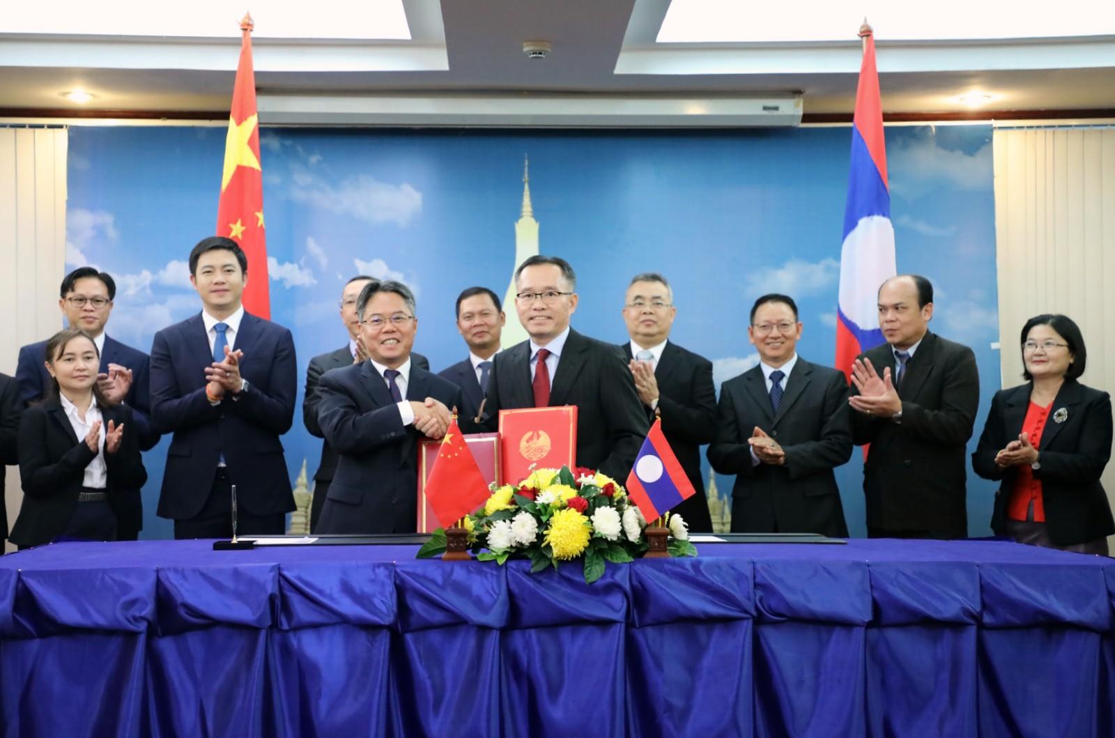 中国老挝双方签署澜湄合作专项基金2018年项目协议