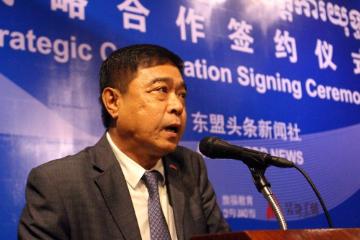 柬中记者协会主席刘晓光:媒企合作是新媒体发展的关键所在
