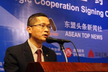 柬埔寨中国商会会长陈长江:东盟头条新闻社要做东盟与中国新闻合作交流平台