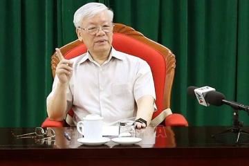 传因病消失一个月   越南官媒发布国家主席阮富仲出席活动照片