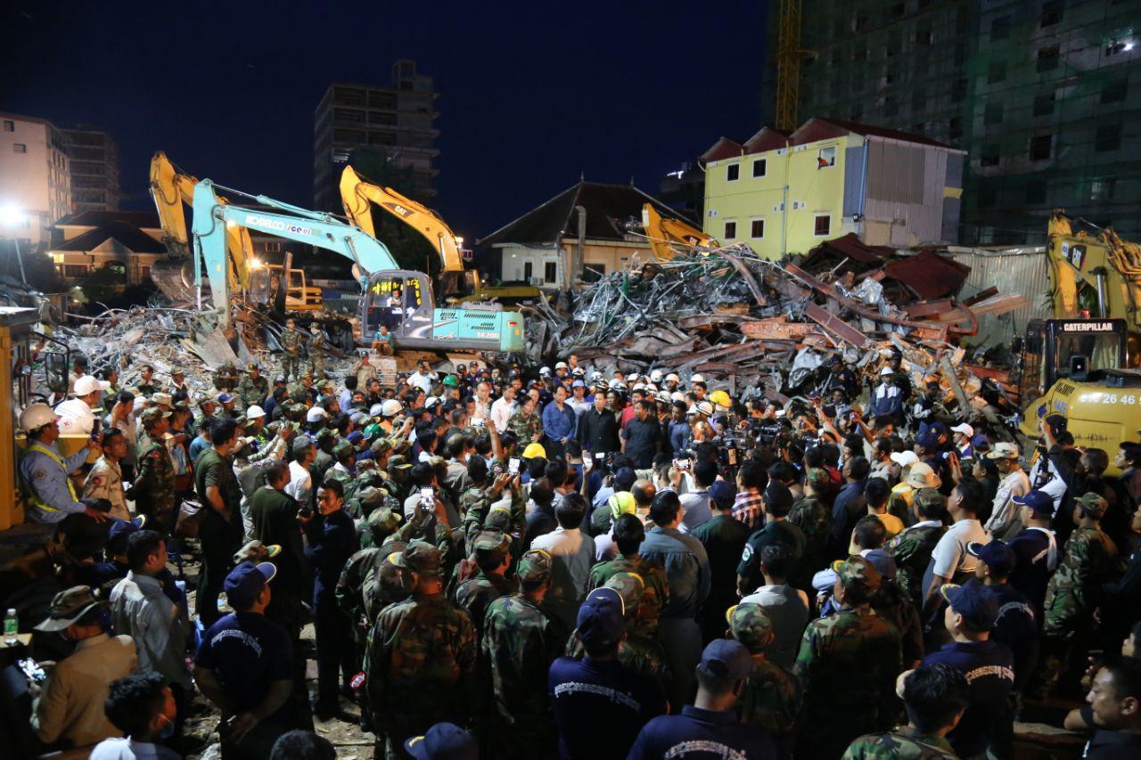 柬埔寨西哈努克省在建7层大楼倒塌搜救结束 28人死亡 26人受伤