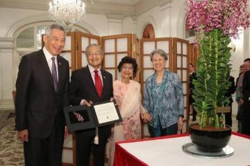马哈蒂尔庆94岁生日 李显龙祝贺