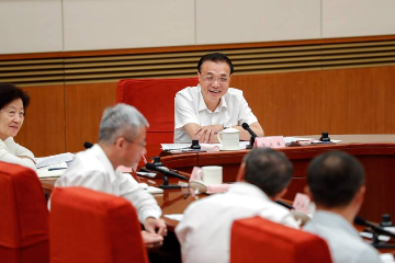 中国总理李克强主持召开经济形势专家和企业家座谈会