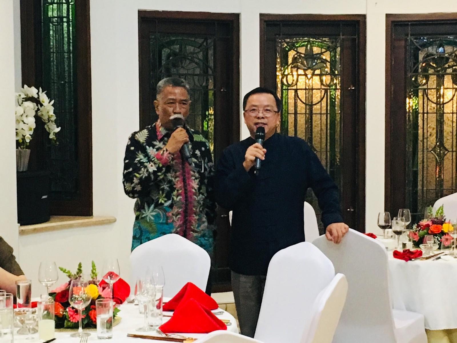 中国驻东盟大使黄溪连为东盟副秘书长穆赫坦举办离任招待会