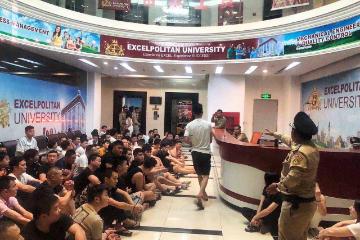 挂大学招牌 开网络赌博! 2天300余名中国籍嫌犯在柬埔寨落网