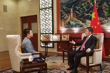 中国驻泰国大使吕健接受泰媒采访谈香港局势和中美经贸摩擦