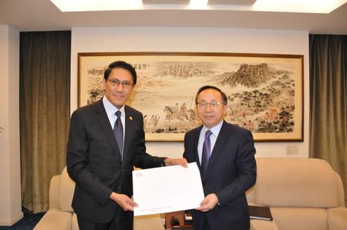 缅甸驻中国新任大使已抵达北京上任 递交国书副本