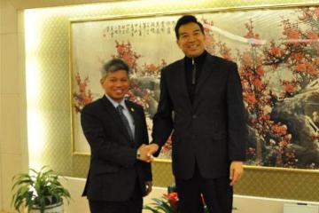 中国外交部副部长罗照辉会见马来西亚新任驻华大使努西尔万