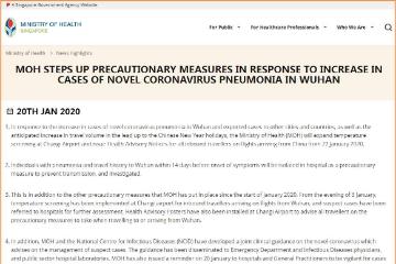 武汉肺炎疫情扩大 1月22日起从中国抵新加坡乘客须检测体温