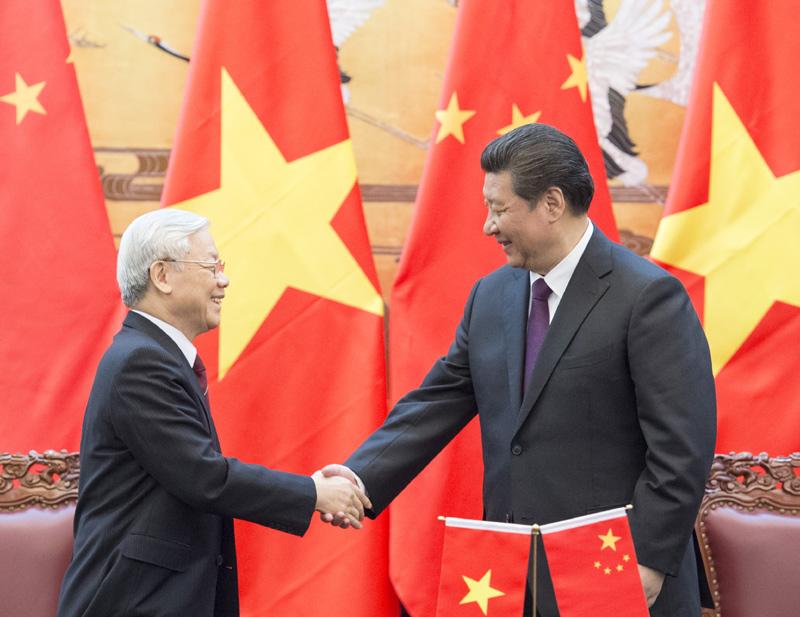 中国最高领导人习近平同越南共产党总书记阮富仲通话 增进互信